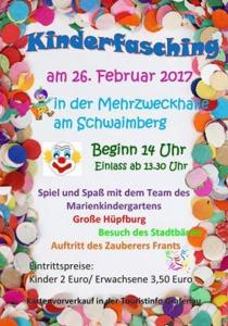 Kinderfasching Grafenau   So, 26.02.2017 von 14:00 bis 17:00 Uhr