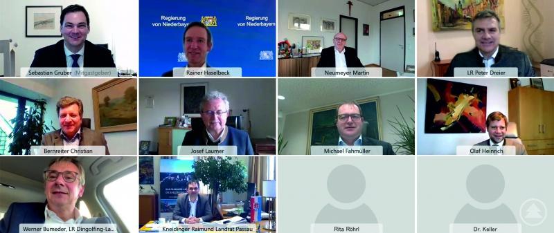 Pandemiebedingt fand die Tagung des Bezirksverbandes Niederbayern des Bayerischen Landkreistags erstmalig im Rahmen einer Videokonferenz statt.