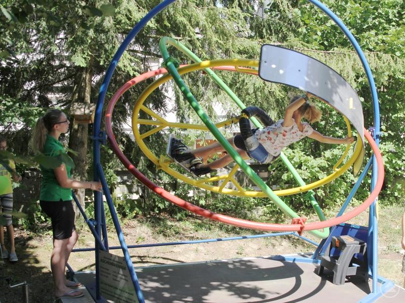 Die größeren Kinder und Jugendlichen hatten vor allem am Aerotrim des Kreisjugendrings eine besondere Freude.