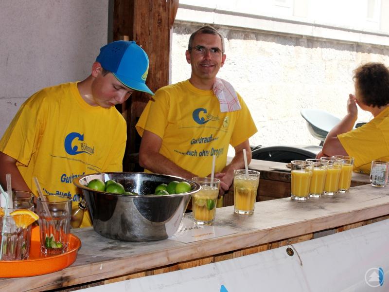An der Böhmwindbar warteten alkoholfreie Cocktails auf die Teilnehmer der Schnitzeljagd.