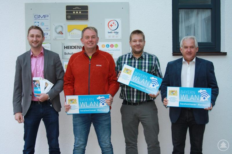 von links: Markus König, Christian Nausch (Leiter Internes Service Center), Oliver Berger und Herbert Unnasch von der ARBERLAND REGio GmbH