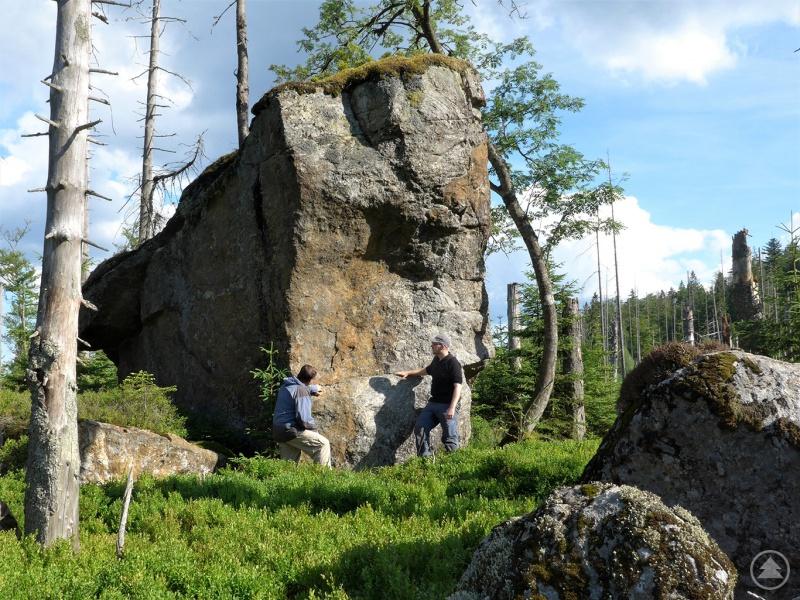 Im Rahmen der Arbeiten haben Forscher auch den Block auf dem Moränenwall des Südlichen Rachelgletschers unter die Lupe genommen.