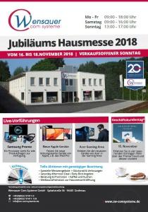 Hausmesse - Wensauer Com-Systeme   Do, 15.11.2018 - So, 18.11.2018