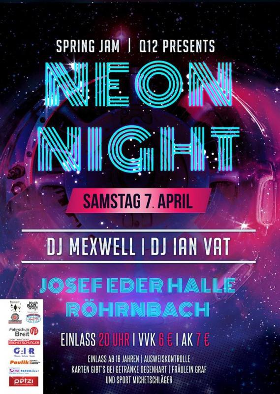 Spring Jam 2018 - Neon Night am Sa, 07.04.2018 - So, 08.04.2018 von ...