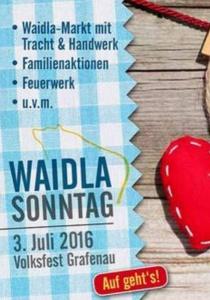 Waidla Sonntag | So, 03.07.2016