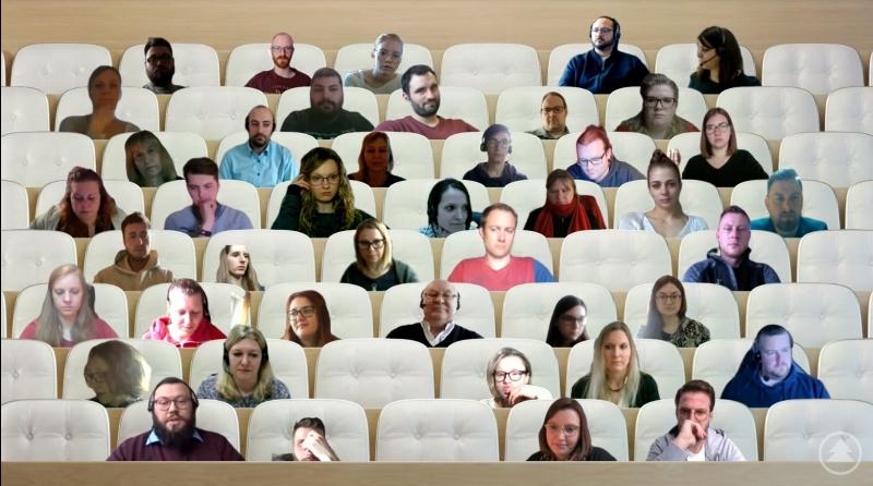 Die neuen Studierenden des Zentrums für Akademische Weiterbildung beim virtuellen Auftakt.