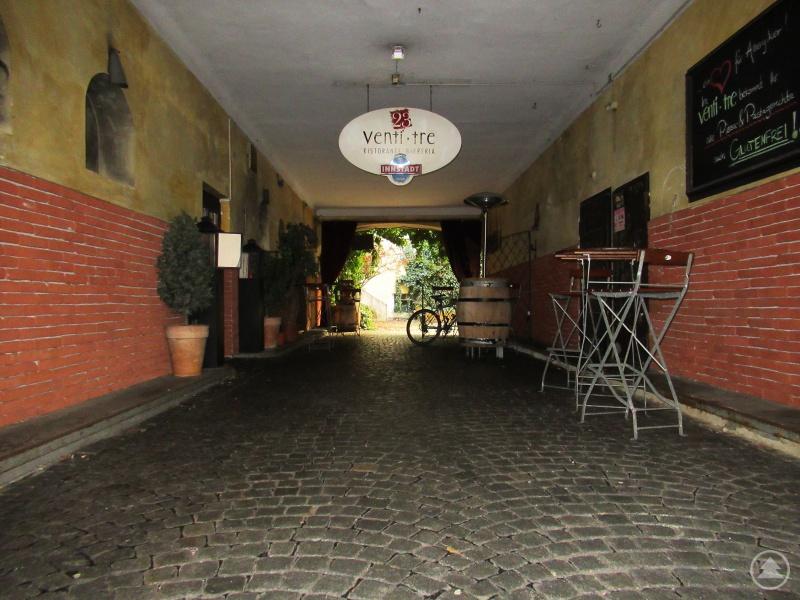 Der Eingangsbereich zum Restaurant Venti Tre