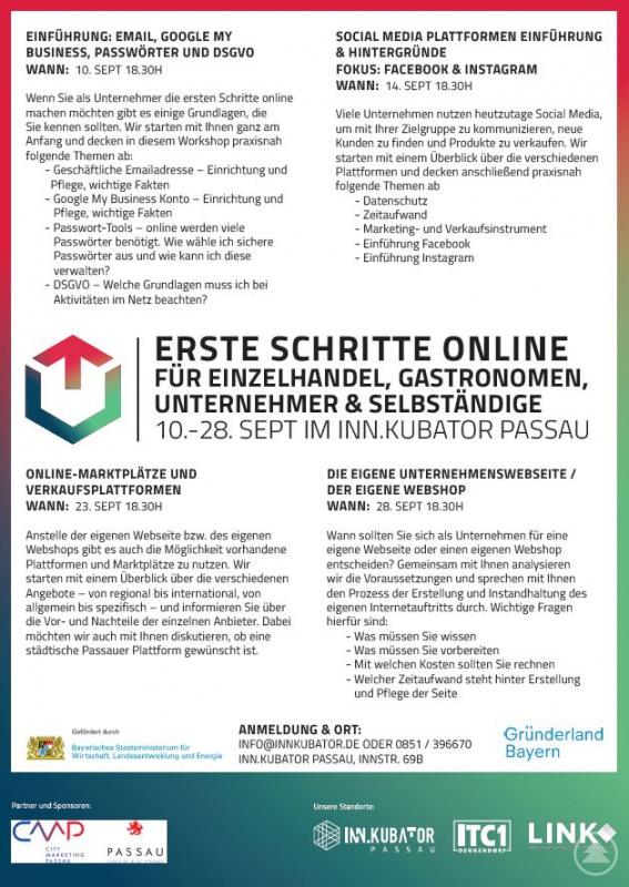 Workshop für Online Einsteiger im neuen Gründerzentrum an der Innstraße