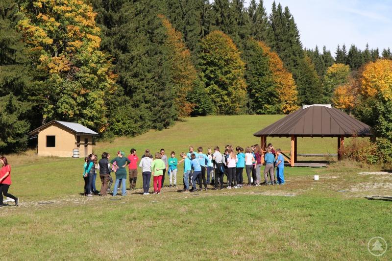 Umweltpraktikanten sind im Nationalpark vor allem im Bereich Umweltbildung eingesetzt – wie hier bei der Gruppenarbeit im Wildniscamp am Falkenstein.