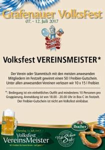 Vereinsmeisterschaft | Volksfest Grafenau 2017 | Di, 11.07.2017