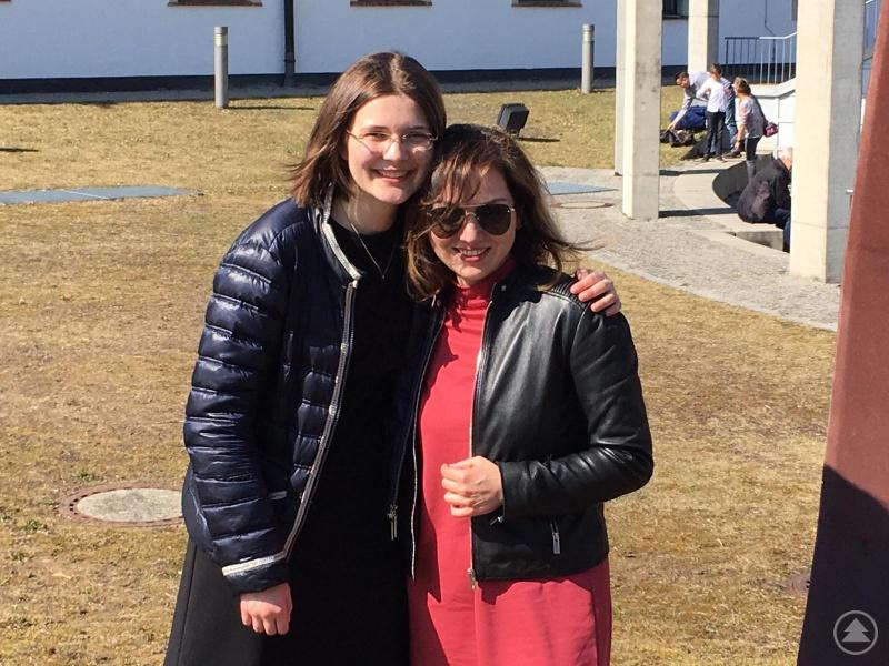 Bernadette Poindecker mit Lilit Tumasova