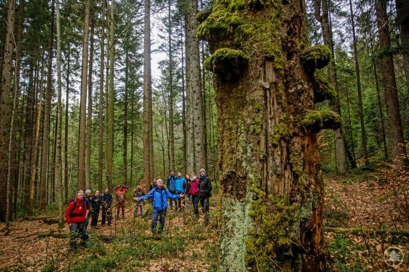 Will für Wildnis begeistern: Lukas Laux mit Commerzbank-Umweltpraktikanten, die nach einem Einführungsseminar selbst Bildungsangebote durchführen.