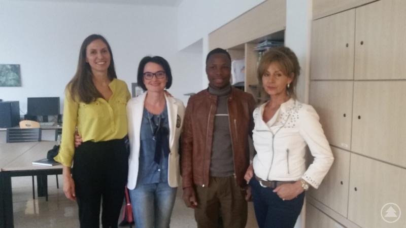 (von links nach rechts): Christine Dachs, Sabrina Kronawitter, Eliezer Koffi, Katharina Peter