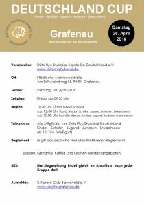 Shitoryu Shukokai Karate Deutschland Cup 2018 | Sa, 28.04.2018 von 09:30 bis 17:30 Uhr