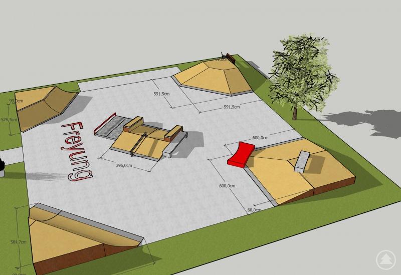 LEADER unterstützt die Jugend. So soll der geförderte Skatepark am Freyunger Schulzentrum aussehen.