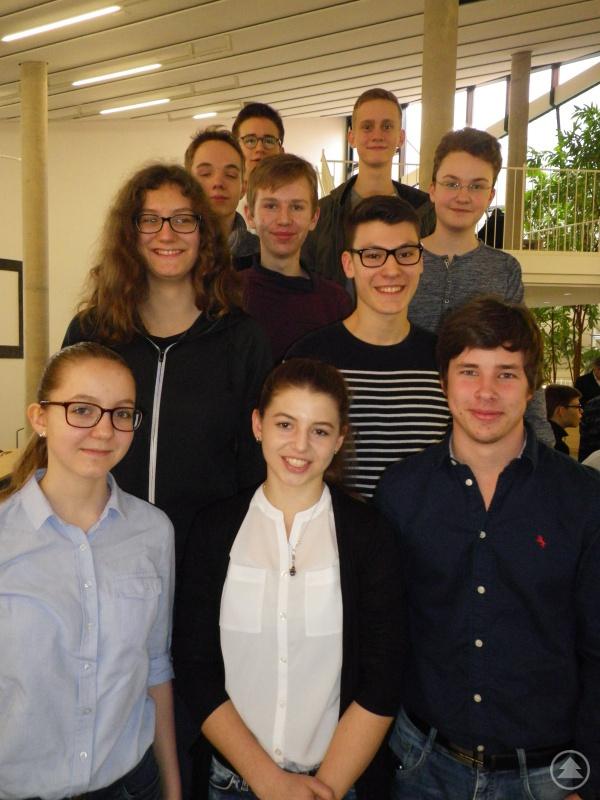 Die Teilnehmer am Naboj-Wettberb im Audimax der Universität Passau