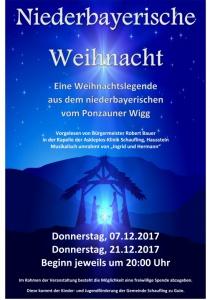 Niederbayerische Weihnacht | Do, 07.12.2017 von 20:00 bis 22:00 Uhr