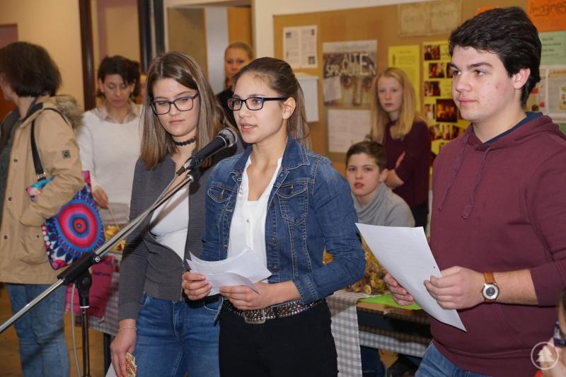 Die Schülersprecher (v. li.) Valentina Preßler, Laura Kaatz und Julian Vater
