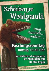 Schönberger Woidgaudi | So, 11.02.2018 ab 13:30 Uhr