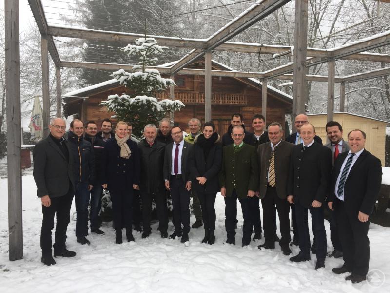 Die Vertreter der ILE-Gemeinden zogen eine positive Jahresbilanz 2017 bei ihrem letzten Zusammentreffen des Jahres in Eging a.See.