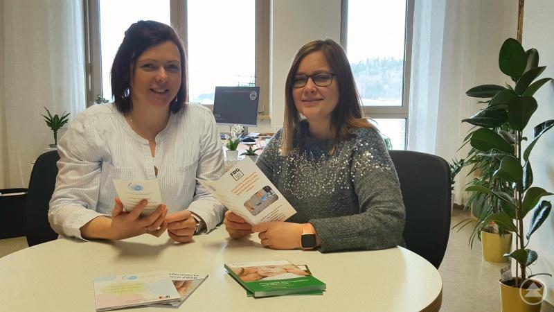 Das Team der Beratungsstelle: Diplom-Sozialpädagogin Katrin Greiner (li.) und Diplom-Sozialpädagogin (BA) Antonia Lechl