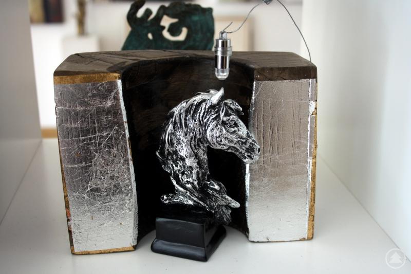 Pferdekopf in der Glasform