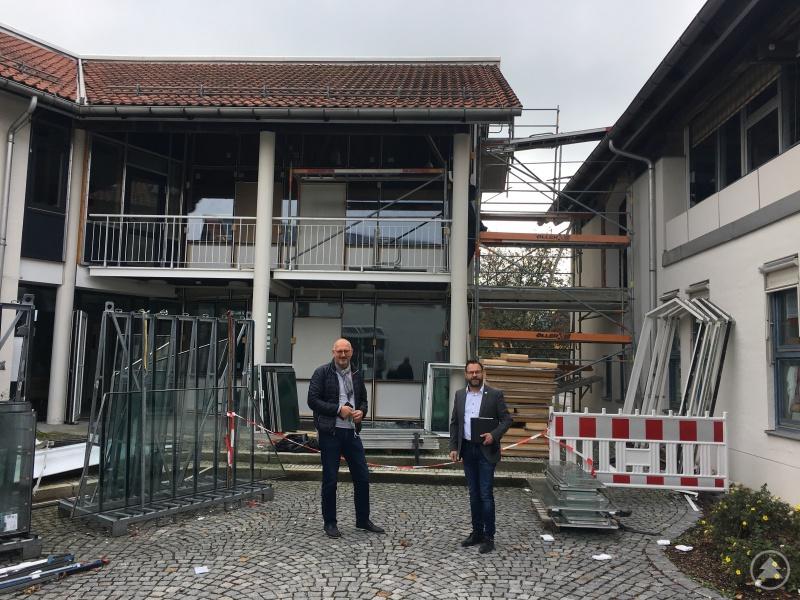 v. l. Manfred Eibl, Mdl und Stephan Gawlik Bürgermeister