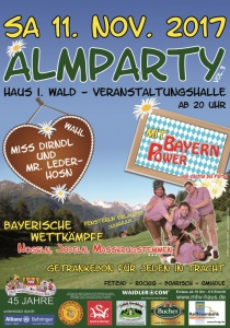 Almparty VOL. 3 | Sa, 11.11.2017 ab 20:00 Uhr