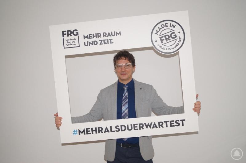 Freyung-Grafenaus Regionalmanager Stefan Schuster freut sich, die Imagekampagne im Auftrag des Landkreises dessen Kampagne auf der Messe in Passau zu präsentieren.