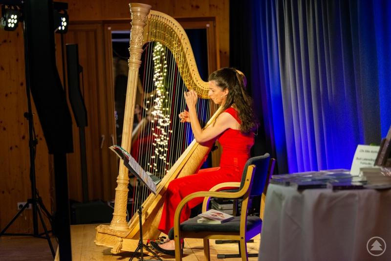 Silke Aichhorn an ihrem Instrument.