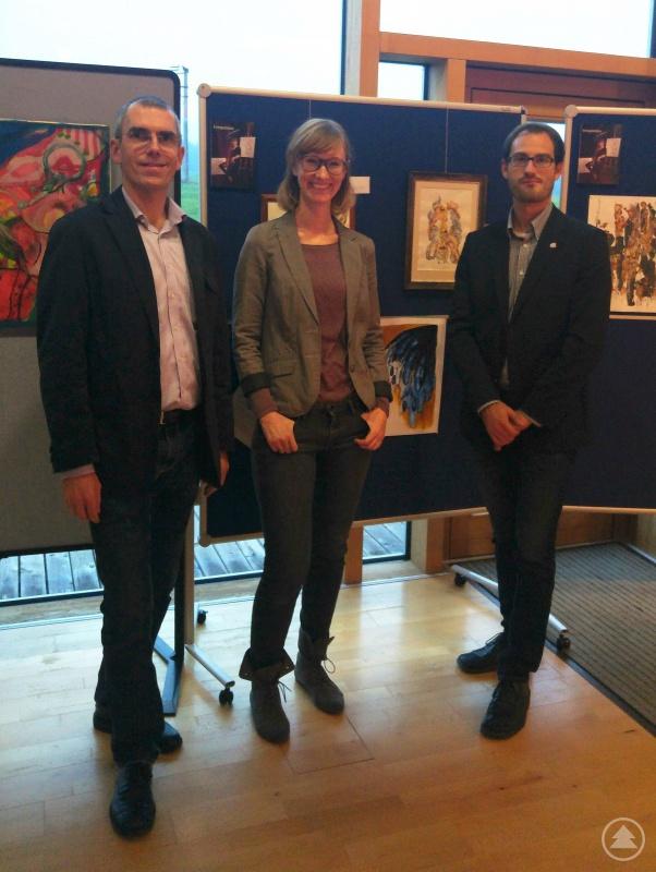 Organisator Matthias Wagner (li.), Eva Paternoster und Amtsarzt Dr. Bernhard Edenharter