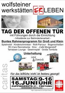 Tag der offenen Tür | Wolfsteiner Werkstätten | Sa, 16.06.2018 von 09:00 bis 16:00 Uhr