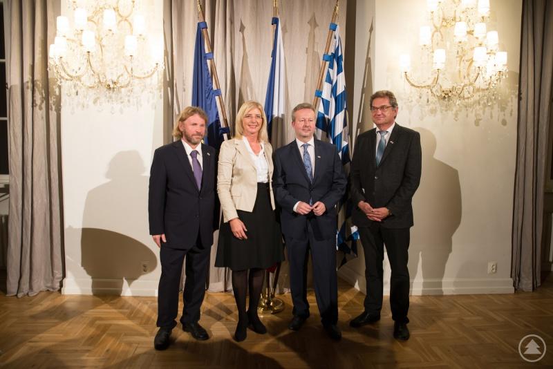 Betonten ein freundschaftliches und konstruktives Miteinander: Pavel Hubený (von links), Ulrike Scharf, Richard Brabec und Franz Leibl.