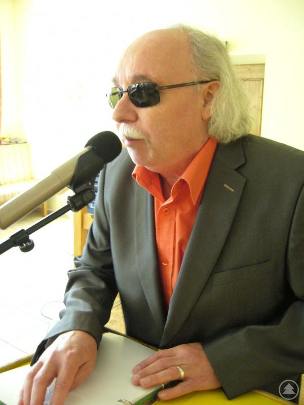 Der Initiator Walter Bichlmeier - er ist der Bezirksgruppenleiter Niederbayern des BBSB (Bayerischer Blinden- und Sehbehindertenbund e.V)