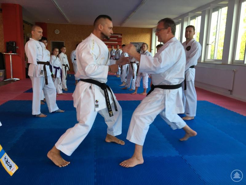 Andreas Jericha und Paul Gruber demonstrieren eine strategische Facette