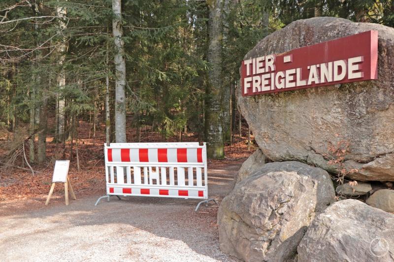 Die Einrichtungen des Nationalparks Bayerischer Wald, wie das Tier-Freigelände in Neuschönau, bleiben vorerst bis 10. Mai geschlossen.