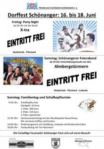 Dorffest Schönanger | Fr, 16.06.2017 - So, 18.06.2017