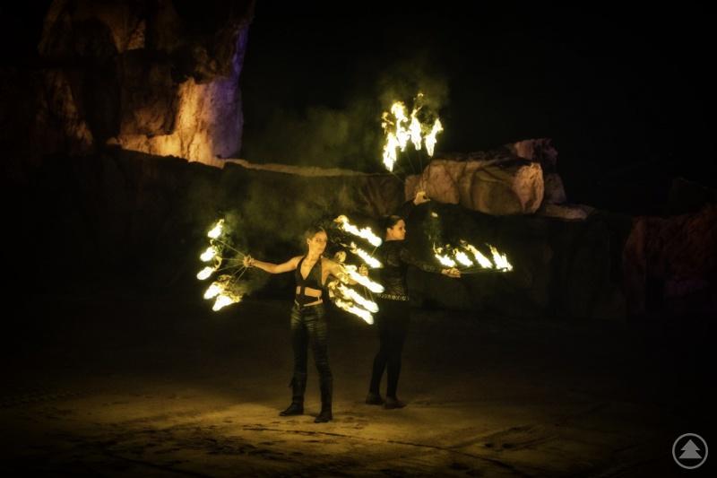 """Highlight während der Mexican Week am kommenden Samstag, 28.08. um 21.00 Uhr – die spekatakuläre Feuershow mit """"Feuer Frei""""."""
