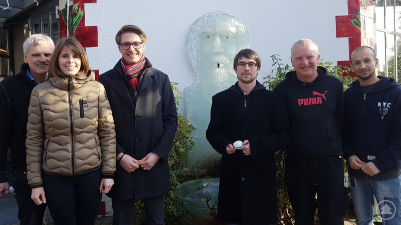 v.l.n.r.: Richard Weinfurtner (WF), Monika Weinfurtner (WF), Benedikt Scharfe (TAZ), Tobias Helling (TAZ), Norbert Fuchs (WF), Khorami Parwiz (WF)