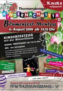 Blumenfest Thurmansbang - Kindernachmittag | Mo, 06.08.2018 ab 13:15 Uhr