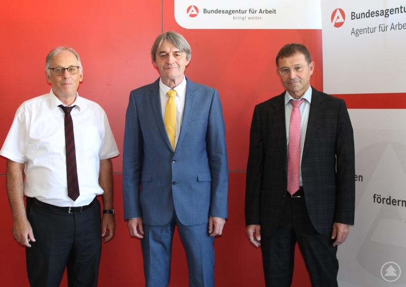 v.l.: Günter Schmiedl, Dr. Klaus Stein, Hermann Käser
