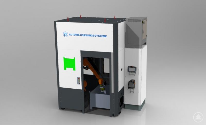 Bei ZF in Grubweg werden seit Kurzem spezielle Roboterzellen für industrielle Anwendungen gefertigt. Diese sind noch bis 21. September auf der weltweit größten Messe für Metallbearbeitung zu sehen.