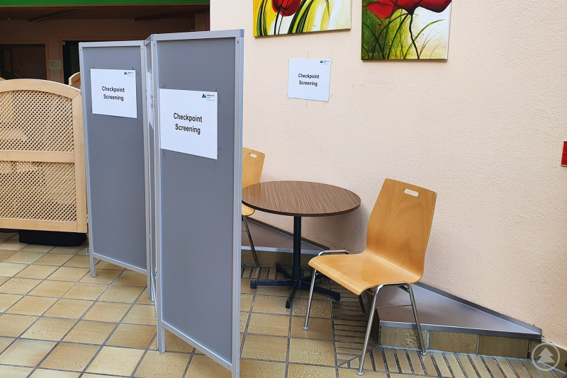 Checkpoint Screening Arberlandklinik Viechtach (Eingangshalle)