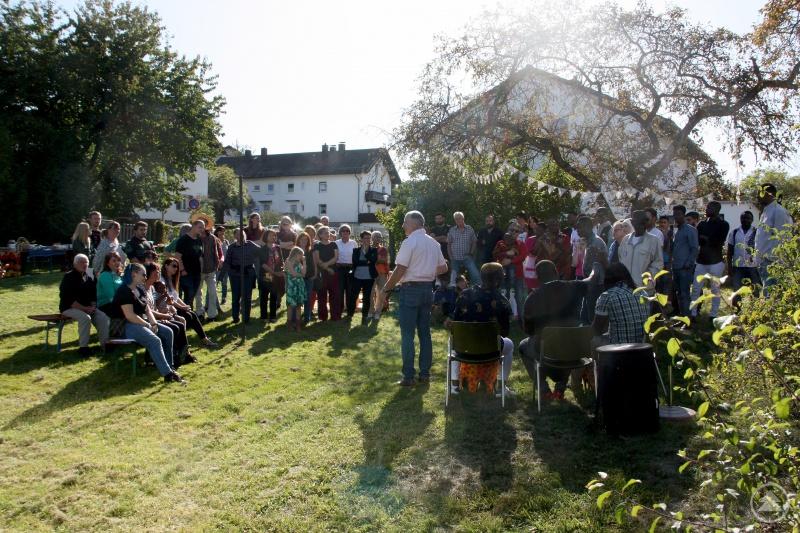 Auch der Integrationslotse Jürgen Probst begrüßte die Gäste.