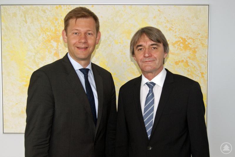 links: MdB Thomas Erndl; rechts: Dr. Klaus Stein
