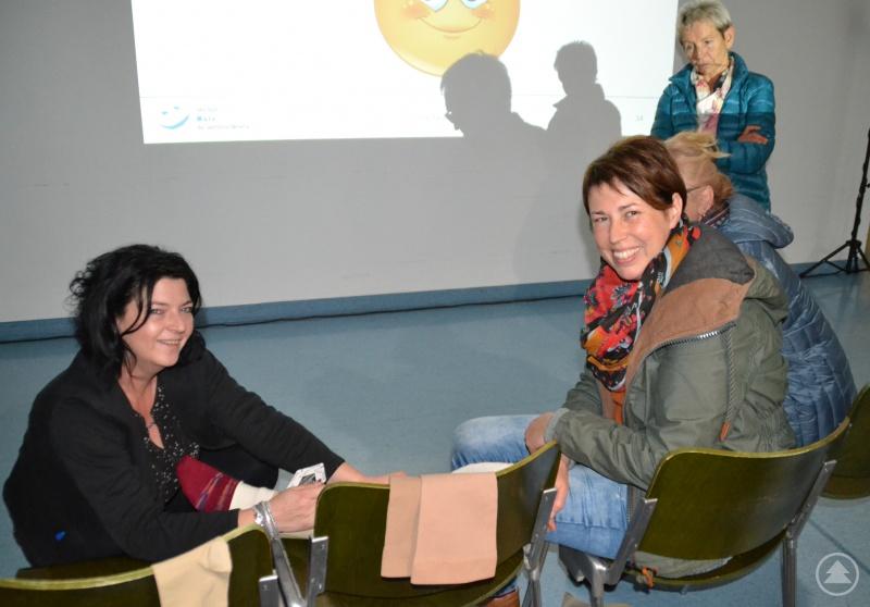 Silvia Bauer vom reha team Mais informierte über Kompressionsverbände und den Schnellwickelverband Circaid Juxtacures.