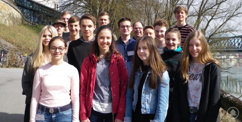Die Teilnehmer des Freyunger Gymnasiums am Naboj-Wettbewerb an der Universität Passau.