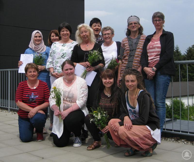 Absolventen des Qualifikationskurses für Kindertagespflege 2018 aus den Landkreisen Passau und Freyung-Grafenau