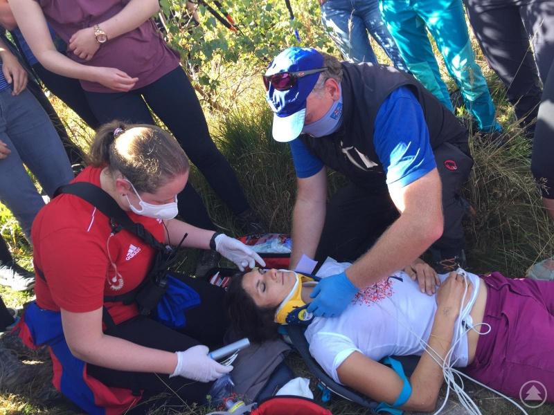"""""""Patientin"""" wird durch Notärztin und Bergwacht versorgt"""
