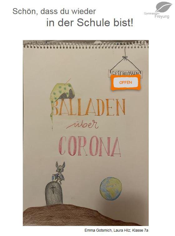 Das Cover der Willkommensbroschüre zum ïersten Schultagï der Oberstufe.